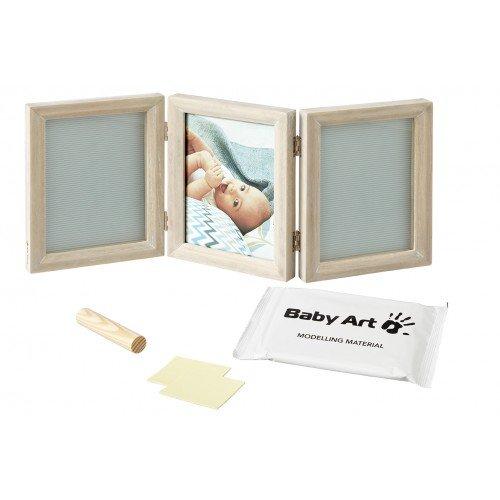 Baby Art Отпечатък за ръчичка и краче - Classic  светло-сива рамка